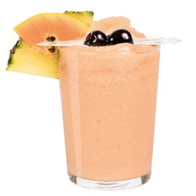 Smoothie pineapple and papaya