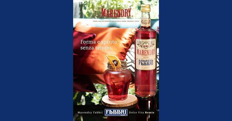 The beloved Bitter Marendry syrup and the iconic Amarena Fabbri jar: the right combination for delicious cocktails